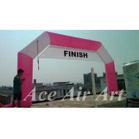 Quality custom pink sport event decoration inflatable racing arch for sale wholesale