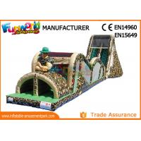 Quality Indoor Or Outdoor Mega Inflatable Assault Course With Digital Painting wholesale