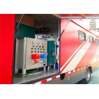 Quality 8000x2200x3400mm Dimension Fire Brigade Truck , Rated Output Power 50KW Fire Equipment Truck wholesale