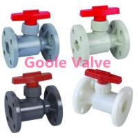 Quality Maunal Flange plastic ball valve wholesale