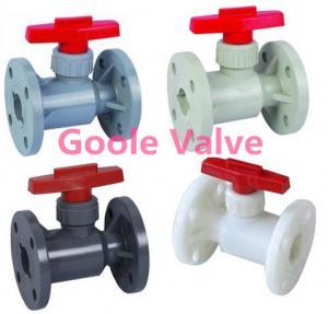 China Flange CPVC Plastic Ball Valve on sale