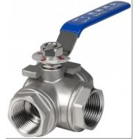 Cheap Cast Carbon Steel 3 Way Ball Valve for Water Industry Thread Handle Drive for sale