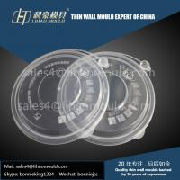 China 1000ml disposable fast food thin wall bowl mould and lid mould manufacturer in China on sale