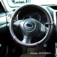 Quality special design black leather car interior accessories steering wheel cover wholesale