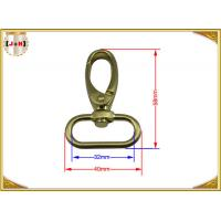 Quality Quick Release Brass Plating Swivel Snap Hooks With Oval Ring Environmental Protection wholesale
