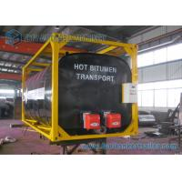 China ISO Frame Liquid Bitumen Storage Tanks Asphalt Tanker Trailer 20 Foot Shipping Container on sale