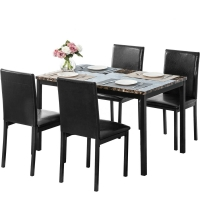 Quality SNUGLANE Breadth 620mm Wicker Indoor Dining Set With Marble Top wholesale