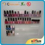 Quality Clear Acrylic Nail Polish Wall Display Rack, custiomized tier nail polish rack wholesale