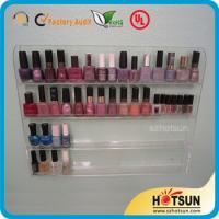 Quality Clear Acrylic Nail Polish Wall Display Rack, custiomized tier nail polish rack wholesale