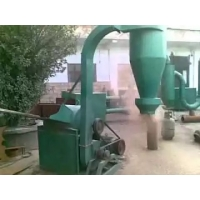 China 15kw 2T/H Straw Hammer Mill Wood Crusher Machine on sale