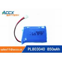 Quality 7.4V 850mAh lithium polymer battery 803040 pl803040 li po battery for led light wholesale