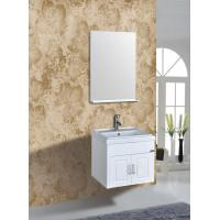 Quality PVC Vanity Cabinets Modern Square Bathroom Cabinet Sink Mirror 60cm / Basin wholesale