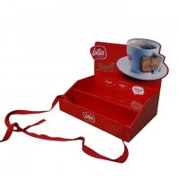 China Red color small size pop up cardboard counter display for biscuit promotion on sale