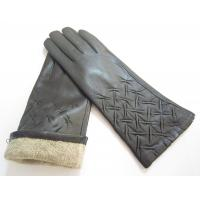 Quality 100% Real sheepskin Women Leather Gloves,Five Finger Gloves with wool lining wholesale