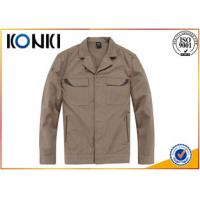 Quality Warm Cotton / Polyester Custom Embroidered Jackets For Work Man wholesale