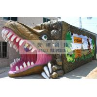 Quality Outdoor Thrilling 5D theater system dinosaur box for adults , Mobile Immersive 7D Cinema wholesale
