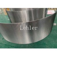 China Wedge Wire Sieve Bend Screen 120 Degree Angle For Dewatering And Drying Equipment on sale