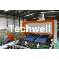 Quality 0.4mm Al-Zn Plating Panel Steel Stone Coated Roof Tile Machine wholesale