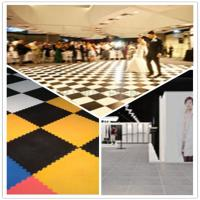 Quality 3W Interlocking Plastic Iinyl Dance Flooring Tiles Patterns For Exhibitions Hall wholesale