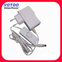 Quality White Housing 1A Switching Power Adapter Wall Mount Type Light Weight wholesale