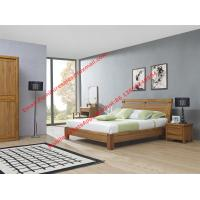 Quality Super Quality wooden Apartment design import ruber solid wood latest bedroom furniture suite by bed and sliding wardrobe wholesale