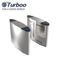 Quality Waterproof SUS304 Facial Recognition RFID Reader Flap Barrier Turnstile , Half Height Barrier Gate wholesale