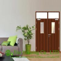 China Inward Opening Steel Fire Rated Door with Glass Vision, With Top Fixed Glass Panel on sale