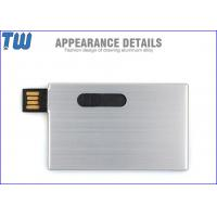 Quality Stainless Metal Card Shape 4GB 8GB Thumb Drives with High Quality Appearance wholesale