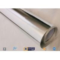 Quality 0.45mm Thick 13oz Silver Coated Fabric With Aluminium Foil For Facing wholesale