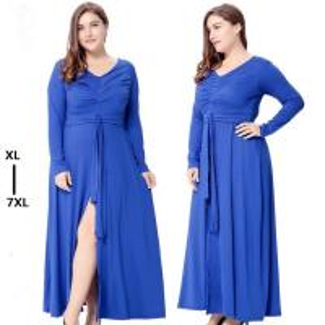China Wholesales elegant long sleeve dress 7xl plus size clothing women on sale