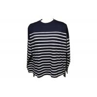 Quality Black White Stripe Womens Natural Knitwear 70% Viscose 30% Linen 200 G/M2 wholesale