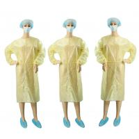 Quality Yellow Non Woven Garments / Disposable Operating Gowns Fluid Resistant wholesale