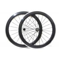 China Matte / Glossy Finishing Carbon Alloy Wheels 700C With Straight Pull Powerway R13 Hub on sale