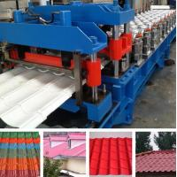 Quality Hydraulic Pressing Roof Color Steel Tile Roll Forming Machine in Blue wholesale