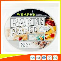 China Round Silicone Baking Paper Sheets , Greaseproof Non Stick Paper For Baking on sale
