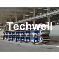 China Steel Roof Wall PU Sandwich Panel Line, Insulated PU Foam Sandwich Panel Production Line on sale