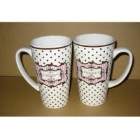 Quality Export 8208 beer ceramic mug with handle Certificate of SGS/CE/ROHS  test custom LOGO coffee mark cup wholesale