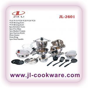 Quality wide edge shape cookware set wholesale