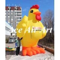Quality custom giant 15ft yellow inflatable chicken replica for advertising wholesale