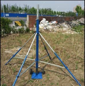China hard aluminum alloy tube mast with wireless control pan-head 6 m ground based telescopic mast photography on sale