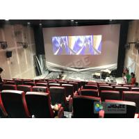 Quality Synthetic Leather 4D Movie Theater With Many Special Effects And Customization Logo wholesale