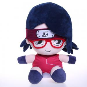 China 35cm Cute Red Glasses Boy Plush Doll Not Easy To Deform on sale