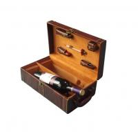 China Folding Wine Packaging Boxes, Wine bottle Cardboard Storage Box with tools for display on sale
