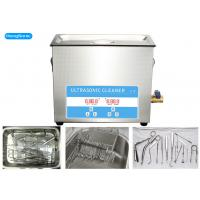 Quality Stainless Steel Medical Ultrasonic Cleaner For Medical Instrument 15L 0.3KW wholesale