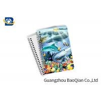 Quality Eco Friendly Paper 3D Lenticular Notebook Ocean / Animal Pattern With Spiral wholesale