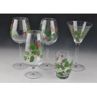 Quality Colorful Decorated Hand Painted Glass Stemware For Martini Wine wholesale