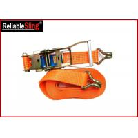Buy cheap 5 Ton 10m Double j hook lashing tie down straps for trucks , Lashing ratcheting strap from wholesalers