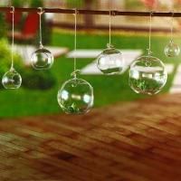 Quality Candle Ball Shape Decorative Glass Craft With Sling For Plant Borosilicate Glass wholesale