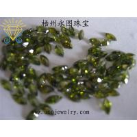 peridot cubic zirconia hot sales,CZ gemstones ready in stock