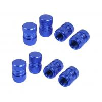 China 7 Mm Thread Car Tyre Valve Stem Caps Covers Royal Blue Easy Installation on sale